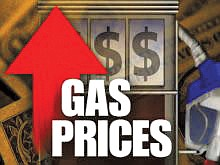 The average price of a gallon of self-serve regular..