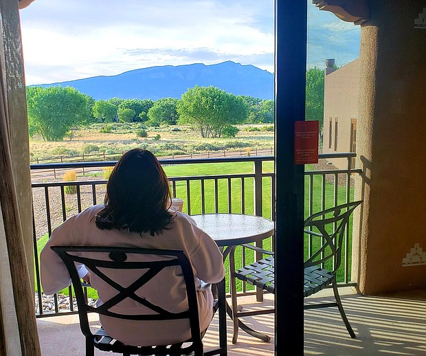 View from guest room facing the Sandia Crest