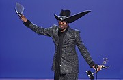 "Actor Billy Porter accepts the award for outstanding lead actor in a drama series for his role in ""Pose"" during Sunday's 71st Primetime Emmy Awards ceremony in Los Angeles."