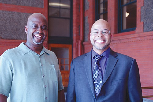 John Tolbert (left) is executive director of the newly formed Black American Chamber of Commerce and Jesse Hyatt, is chamber president.