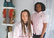 Madalyn Davis (left), said she loves her new hair extensions by Rita Calloway (right), owner of 'Styled by Her Beautique,' a new mobile beauty salon that comes to you for hair care and other services.