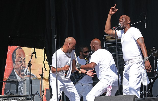The Soul Unlimited Band wows the crowd during its performance last Saturday at the 31st Annual 2nd Street Festival. (Sandra Sellars.Richmond Free Press)