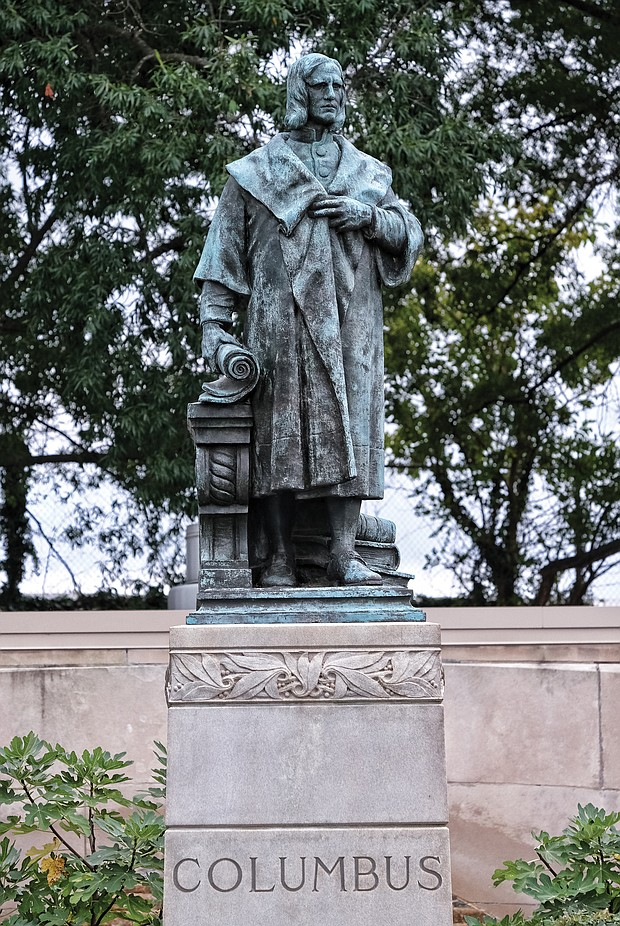 Columbus statue in Byrd Park