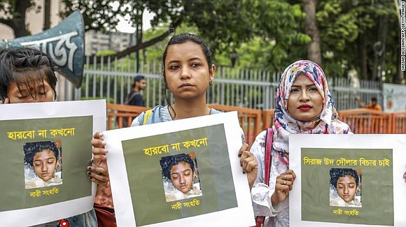 A court in Bangladesh has sentenced 16 people to death for the murder of a teenager who was set on ...