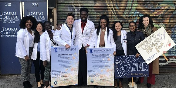 "Joining the Harlem community at the Touro College of Osteopathic Medicine (TouroCOM) and Pharmacy ""Fall into Health Fair"" Friday was ..."