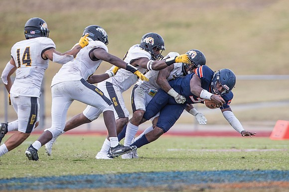 Virginia State University's football Trojans are going from one extreme to another. Coach Reggie Barlow's squad is licking its wounds ...