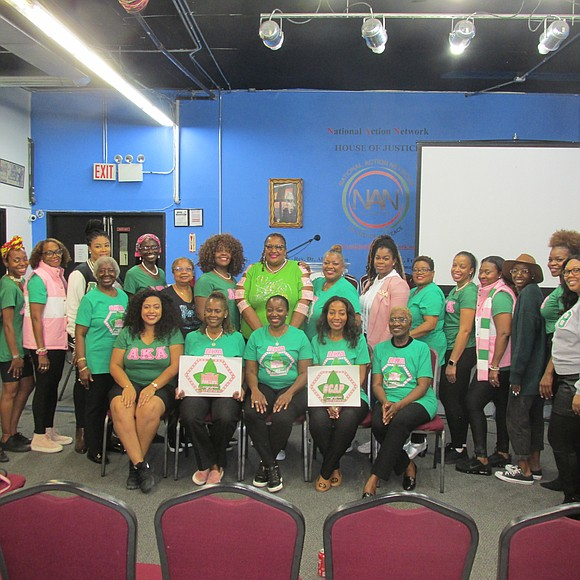 The Tau Omega Chapter of Alpha Kappa Alpha Sorority, Inc. and the National Action Network's Youth Huddle partnered last weekend ...