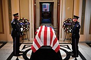 The body of Rep. Cummings lies in state Oct. 24 at the U.S. Capitol, where a ceremony was held by members of Congress the day before his formal funeral service.