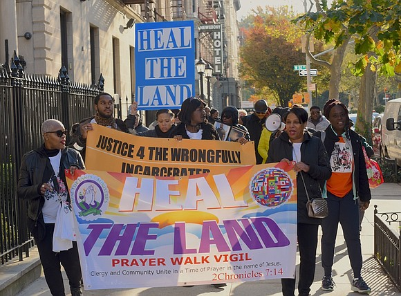 Harlem held its fourth annual Heal the Land Prayer Walk Vigil on Saturday, Nov. 2, 2019.