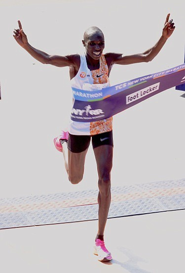 Men's TCS NYC Marathon winner Geoffrey Kamworor