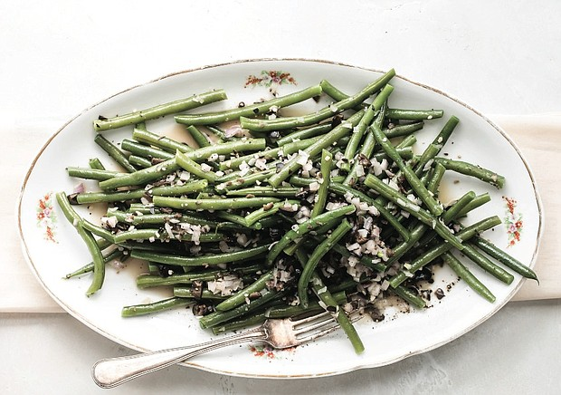 Green Beans with Olive Butter