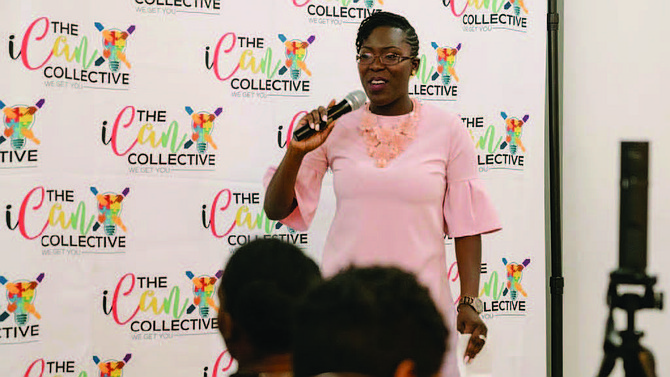 Afenya Pongo-Montgomery (pictured), founder of The iCan Collective, will soon host a sneak preview of the new iCan Collective event venue that will soon be open in South Loop. Photo Credit: Provided by The iCan Collective.