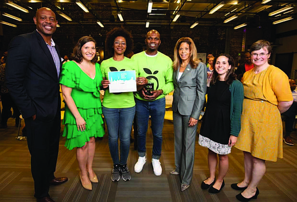 During the sixth annual South Side Pitch competition, hosted by the University of Chicago, Dinobi Detergent came in first-place out ...