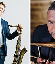 Ben Wendell (left) and Wycliffe Gordon will be two of the headliners when the Mt. Hood Jazz Festival makes its return to Mt. Hood Community College, April 24-26, for the first time since 2004.The lineup will also include local jazz icons and more than 70 high school and middle school jazz ensembles.