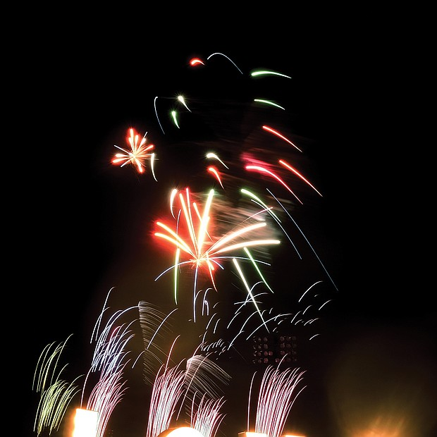"""When it comes to fireworks, Richmond area residents will brave even the coldest temperatures to watch the skies light up. Last Saturday, that was the case as dozens of people flocked to The Diamond for a fireworks display set to the music of the hugely popular musical, """"Hamilton."""""""