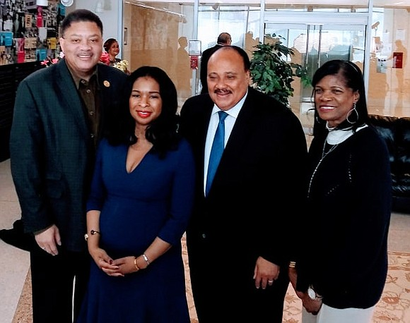 On Friday, Nov. 15, 2019 Martin Luther King III and his wife Arndrea Waters King came to Harlem New York ...