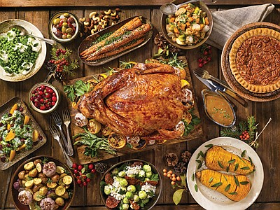 """This recipe for """"Herb-Roasted Turkey"""" from Yolanda Banks' """"Cooking for Your Man"""" (Broadway Books) produces a mouth-watering bird that's sure ..."""