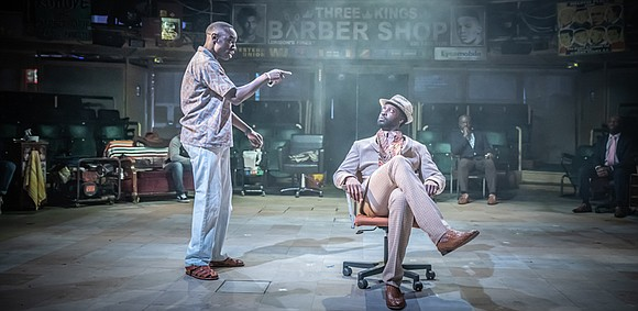 The culture and legacy of the Black barber shop isn't just an American thing. At the Brooklyn Academy of Music ...