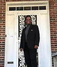 The door to recovery. Light of Truth Center, Inc. (LTC) founder Vaile Leonard stands at the door of the organization's newest location at 902 N. Wheeler Avenue.