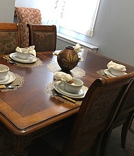 The dining room area of the Sollins-McCarthy Center.