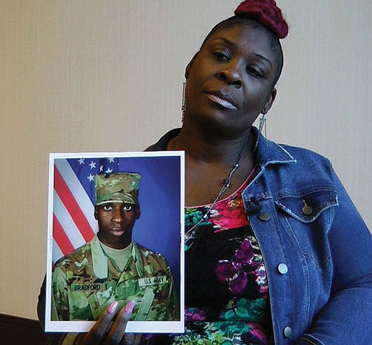 The mother of an Alabama man fatally shot last year by police..