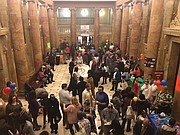 Hundreds attend a fun-filled reception for newly adopted children at The Clarence Mitchell, Jr. Courthouse.