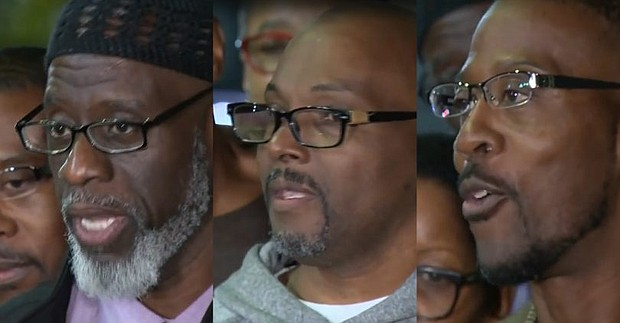 (From L to R) Andrew Stewart, Ransom Watkins and Alfred Chestnut, were released and exonerated after spending 36 years in prison for a crime they didn't commit.