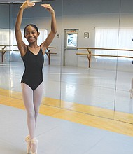 Aanaiyah Jones, age 10, started taking ballet at age 3 at Peninsula Park Community Center in north Portland, but now takes lessons at Classical Ballet Academy, a serious training ground for future professional dancers in southeast Portland, where she will star as Clara in the school's production of The Nutcracker on Dec. 20.