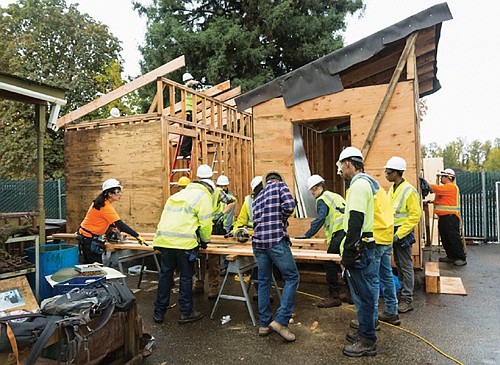Portland area residents train in the construction trades thanks to Constructing Hope, a pre-apprenticeship program rooted in Portland's African American community.