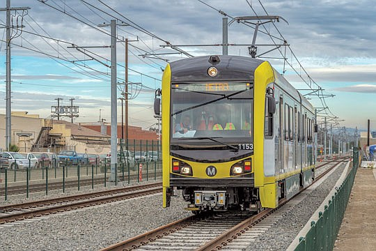 Metro's Crenshaw/LAX Transit Project will be working on train testing...