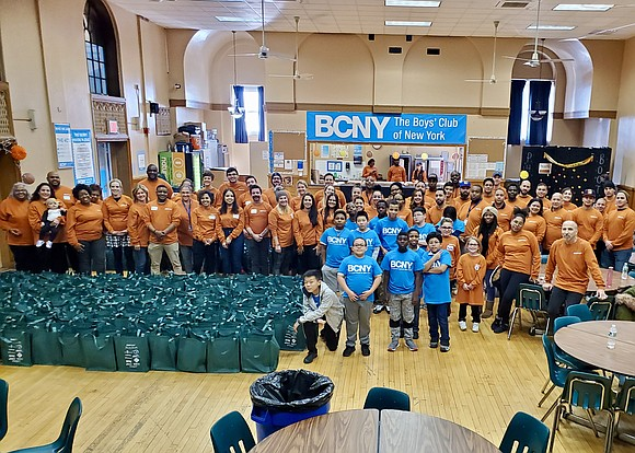 The Boys' Club of New York's fourth annual Thanksgiving Drive, held the weekend before Thanksgiving at BCNY's Gerry Clubhouse in ...