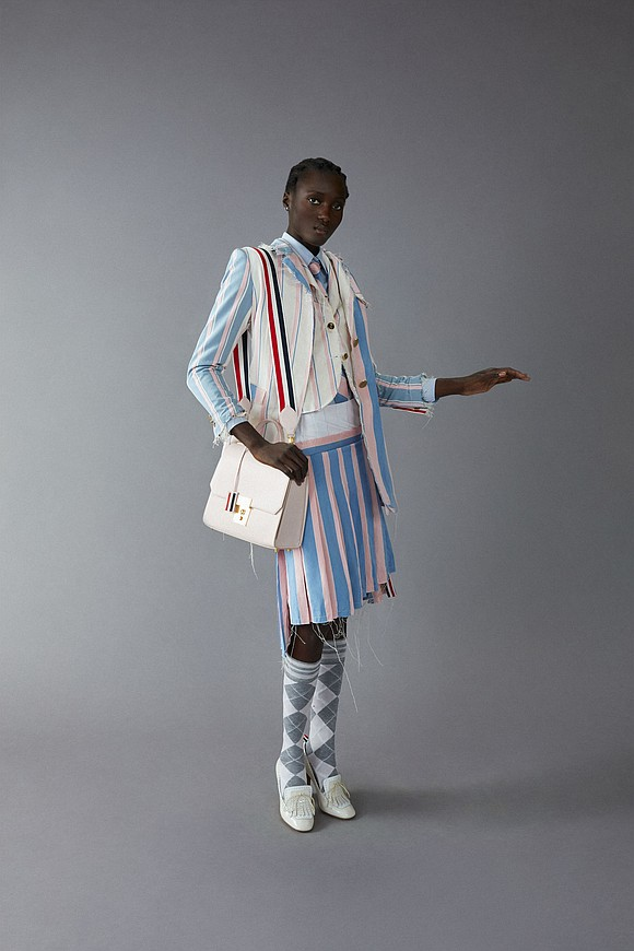 For spring 2020, he was inspired by new whimsical trends that showed up in collections in London and Paris.