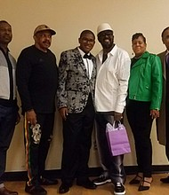 Eric Carpenter- Grantham, (third, left) has met a host of celebrities and music icons, including: the Jackson 5; Pastor Joel Osteen; Bishop TD Jakes; Kirk Franklin; Debbie Allen; Shirley Cesar; and a host of others.  His dream was to meet Dr. Otis Williams (middle) and his fellow Temptations. The singing group will celebrate their 6oth anniversary in 2020. During the holidays, time can be the biggest gift of all. Through meeting Eric. The Temptations remind what the holiday spirit is really all about.