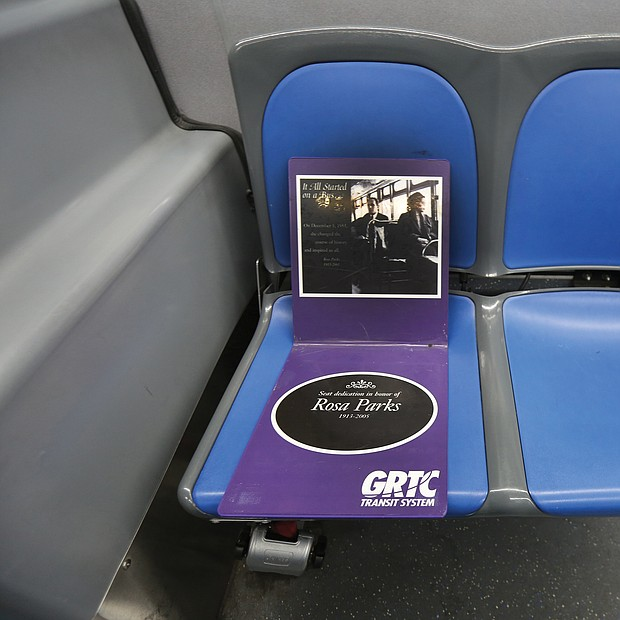 GRTC also reserved the first seat on every bus in honor of Mrs. Parks refusing to give up her seat on a Montgomery, Ala., bus to a white man. The action of Mrs. Parks, who died in 2005 in Detroit, led to a boycott of Montgomery's public bus system and a U.S. Supreme Court ruling outlawing racially segregated seating on local public transit just as it had earlier used the Virginia case of Irene Morgan to ban racial segregation of passengers on buses, trains and planes crossing state lines.