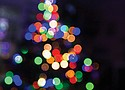 Lights of different colors are a holiday tradition.