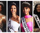 MIss Universe Zozibini Tunzi, Miss USA Cheslie Kryst, Miss Teen USA Kaliegh Garris, Miss America Nia Franklin.