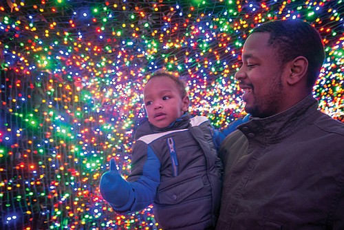The event draws thousands of visitors to enjoy the forests of lighted trees, life-size illuminated animal silhouettes and take rides ...