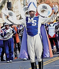Information Systems major in his junior year at MSU, Drum Major Justin Fabiyi-King.