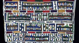 Artist unidentified. Married Woman's Blanket Cape (Ngurara). Mid-20th century. Ndebele region, South Africa.