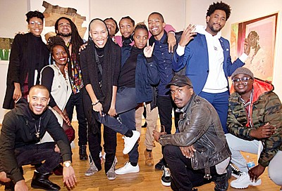 """The Eubie Blake Galleries have gained a reputation as a unique and affordable exhibition venue for visual arts. The current exhibition, """"Our World"""" is co-curated by Derrick Adams and Thomas James and will be on view until January 18, 2020. Ten young emerging artists, mostly from Baltimore will exhibit their works. The Eubie Blake National Jazz & Cultural Center is located 847 N. Howard Street."""
