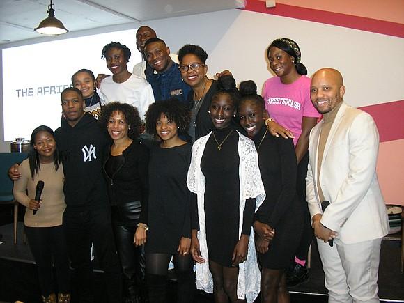 "Against the backdrop of the work of artist Thenjiwe Niki Nkosi, titled ""Gymnasium,"" six athletes tackled the topic ""Black Bodies/White ..."