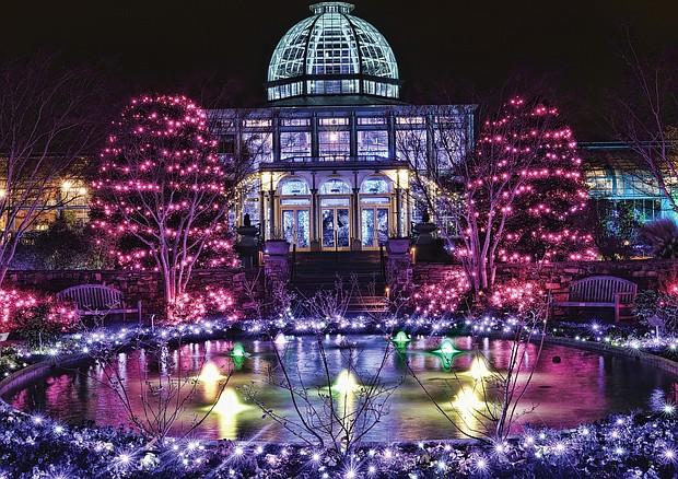 GardenFest of Lights at Lewis Ginter Botanical Garden