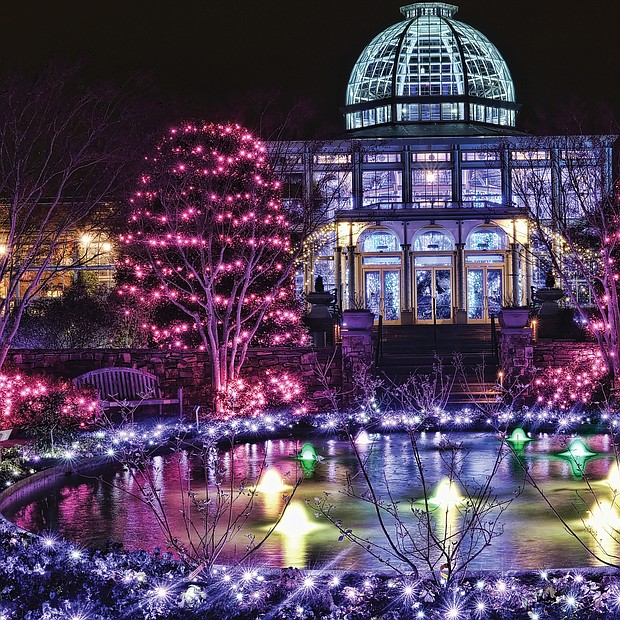 GardenFest of Lights at Lewis Ginter Botanical Garden