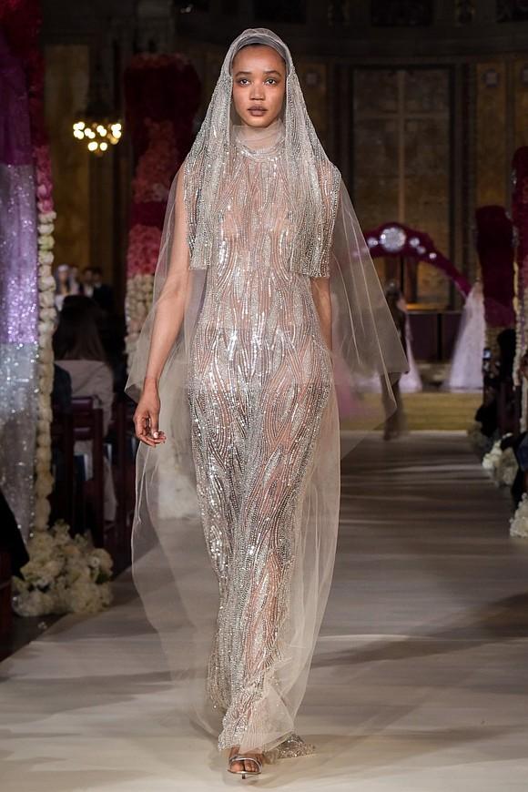 Designer Reem Acra's Bridal collection at NYFW was sensational.