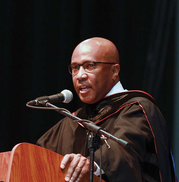 Dr. Harry L. Williams, president and chief executive officer of the Thurgood Marshall College Fund, was the commencement speaker.