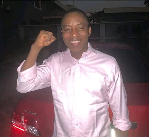 """I am feeling very well thank you,"" a cheerful, just-released political activist Omoyele Sowore told the Amsterdam News from Abuja, ..."