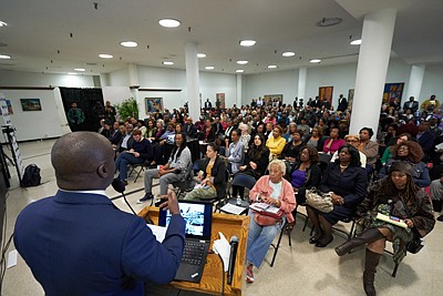 As a life-long community organizer, Councilmember Marqueece Harris-Dawson held meetings with activists, community advocacy groups, and business owners upon entering office in 2015 to hear their concerns and jointly determine a course of action, eventually leading to the creation of what may be a first-of-its-kind anti-gentrification project, called Destination Crenshaw.