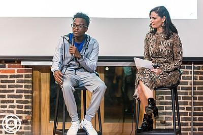 Melody Baron, LinkedIn Local Baltimore host interviews Living Classroom graduate, Antonio Moore