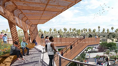 Rendering of Sankofa Park once the project is complete.