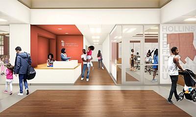 Rendering of UMB new Community Engagement Center.